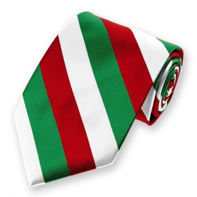 http://www.solidcolorneckties.com/Green-White-and-Red-Striped-Tie-p/is57na-0378.htm