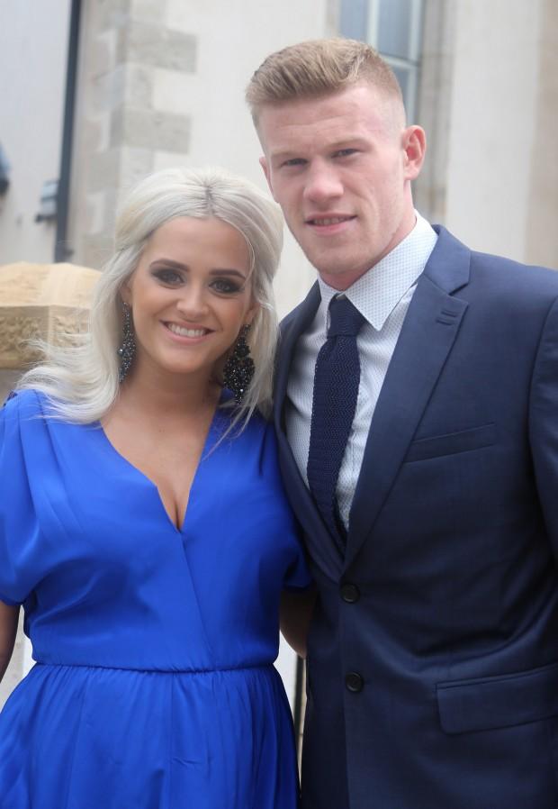 Irish International James McClean and partner Erin O'Connor.  (North West Newspix)