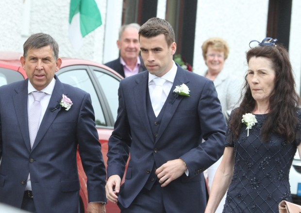 Henry and Marie Coleman, with their son Seamus Coleman on his wedding day.