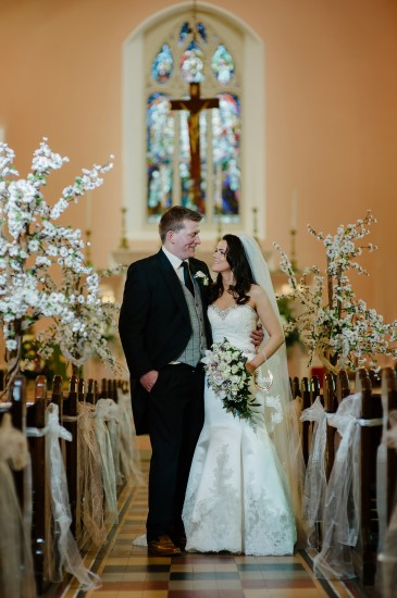 Tom, son of Christine Mann, weds his best friend Aisling, daughter of Maureen and Martin Pearson in St Lawrence's Church, Fintona.