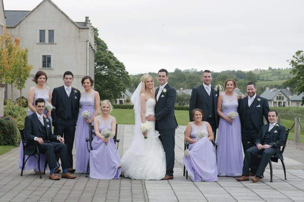 Laura Lee and Stephen with their bridal party. Jude Browne Photography