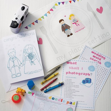 Child's Wedding Activity Box by YoYo-Me available on notonthehighstreet.com