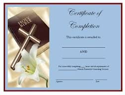 Marriage Prep Certificate