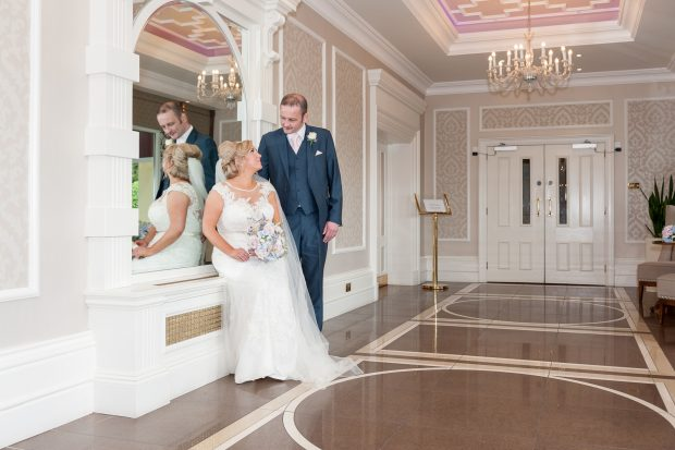 The new Mr and Mrs Sweeney chose to have their wedding reception in the Manor Country Hotel as they admired its vintage charm.