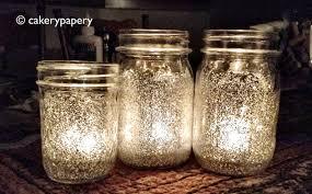 glitter mason jar - wedding decorations